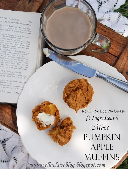 Moist, Delicious, Easy Pumpkin Apple Muffins - Ella Claire