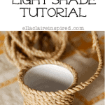 Jute Twinkle Light Shade Tutorial