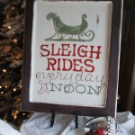 Free Sleigh Rides Sign Template {Tutorial}