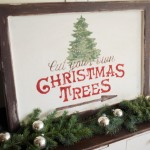 Free Christmas Tree Sign Template {Tutorial}