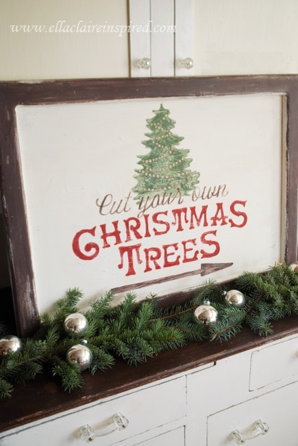 Free Christmas Tree Sign Template Tutorial Ella Claire – Free Christmas Tree Templates