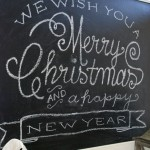Christmas Chalkboard Template {Tutorial}