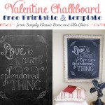 Valentine Chalkboard Free Printable and Template