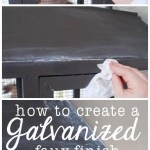 How to Create a Galvanized Finish {Tutorial}
