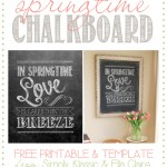 Spring Chalkboard with Free Template and Printable