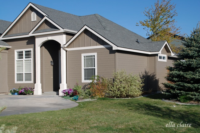 My Home Exterior Reveal How To Choose Exterior Paint Colors Ella Claire
