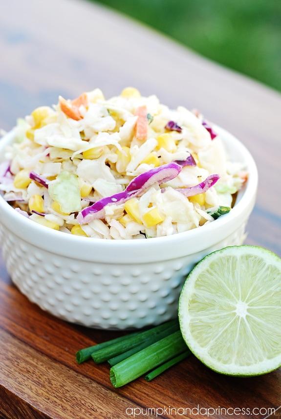 Tangy Corn Coleslaw Recipe