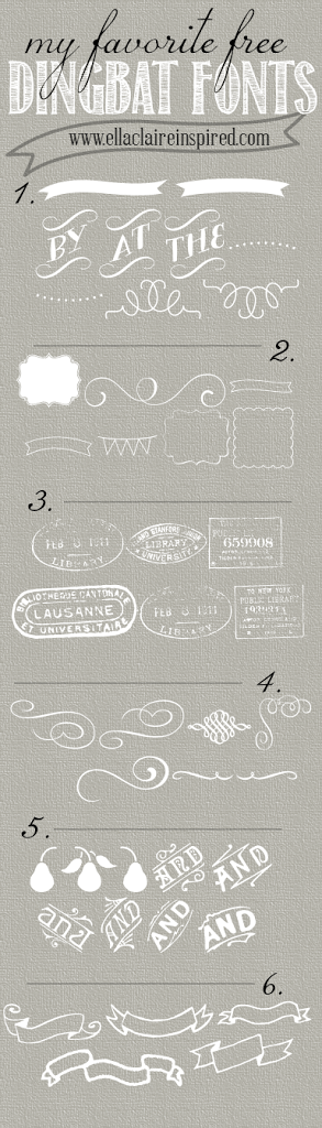 My Favorite Free Dingbat Fonts - Ella Claire