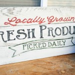 Fresh Produce Sign for My Garden~ Tutorial and Template