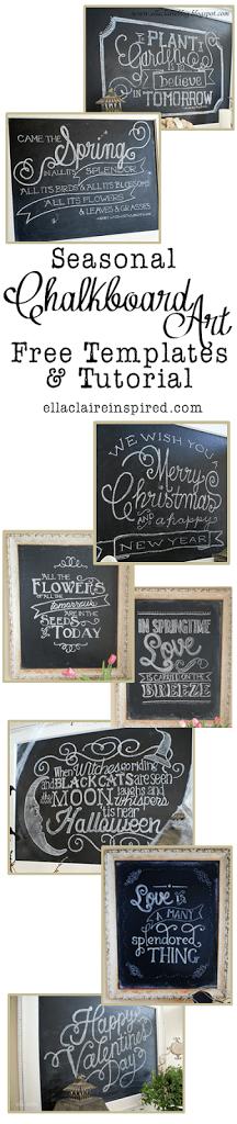 my seasonal chalkboard art roundup free templates and. Black Bedroom Furniture Sets. Home Design Ideas