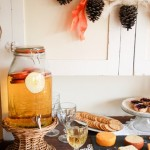 Sparkling Cider Recipe, Fall Party Food Vignette, and Autumn Abounds