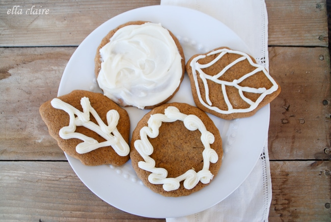 Spiced Pumpkin Gingerbread Cookies~ - Ella Claire