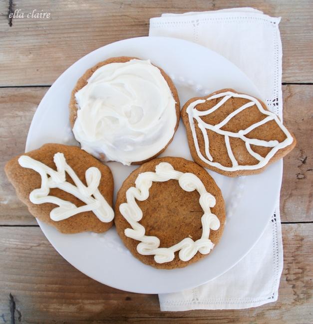 Spiced Pumpkin Gingerbread Cookies~ - Ella Claire