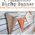 An Autumn Burlap Bunting {Tutorial} & The Truck of My Dreams