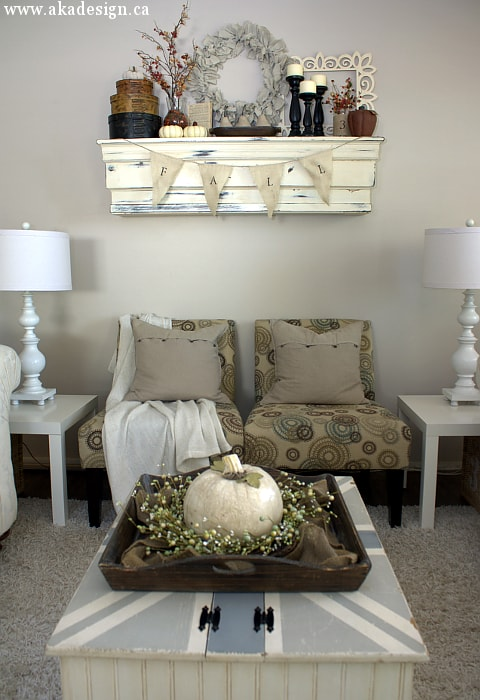 fall mantel living room chairs