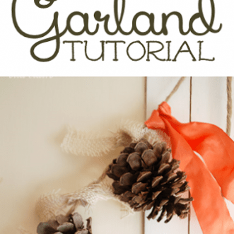Pinecone Garland Tutorial