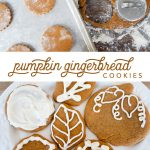 Spiced Pumpkin Gingerbread Cookies~