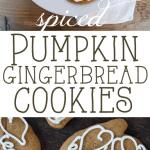 Spiced Pumpkin Gingerbread Cookies~