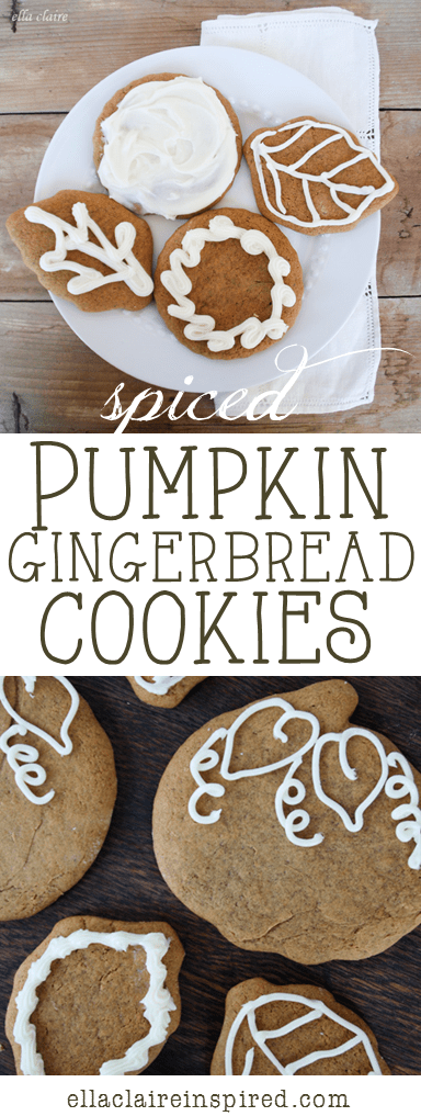 Spiced Pumpkin Gingerbread Cookies~ the perfect cookie for Fall!
