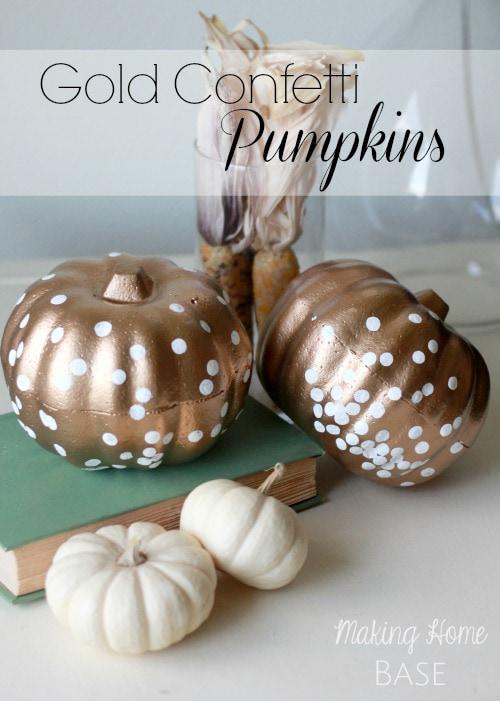 Gold Confetti Pumpkins and other fun pumpkin ideas.