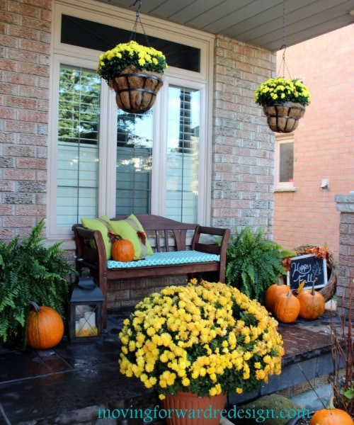Fall Front Porch and other pumpkin decorating ideas.