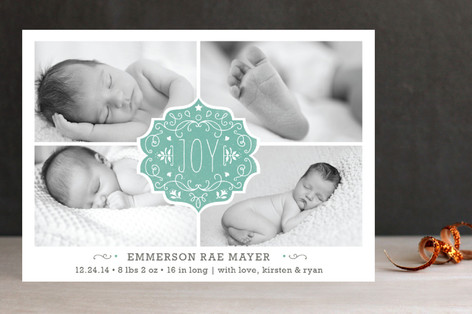 Festive Baby Holiday Photo Cards