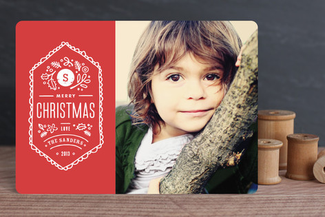 Vintage Stamp Christmas Photo Cards