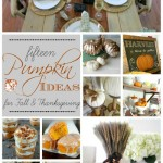 15 Pumpkin Ideas for Fall and Thanksgiving~ The Inspiration Exchange Features