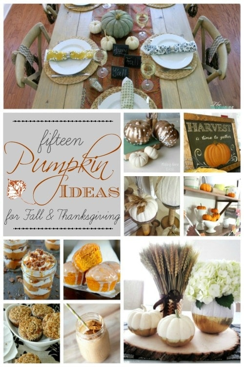 Pumpkin Inspired Decor and Recipes for Fall and Thanksgiving