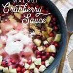 Apple Walnut Cranberry Sauce
