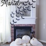 DIY Halloween Flying Bat Mantel | Free Bat Template