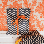 Make Your Own Halloween Treat Bags from Wrapping Paper!