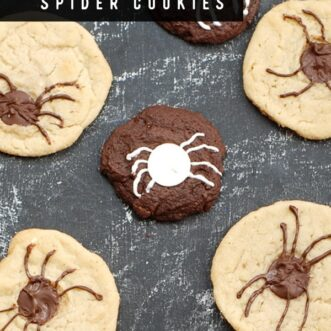 Creepy Crawly Halloween Chocolate Chip Spider Cookies