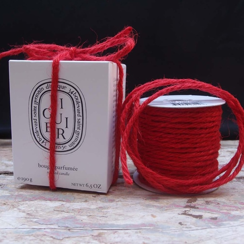 3.5mm Red Jute Cord - 25 Yards - Click Image to Close