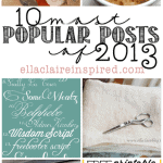 My 10 Most Popular Posts of 2013!