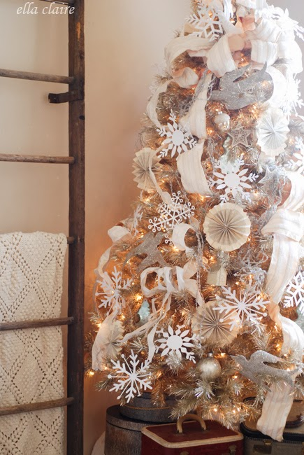 vintage tinsel tree