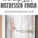 Easy DIY Distressed Finished Shelf