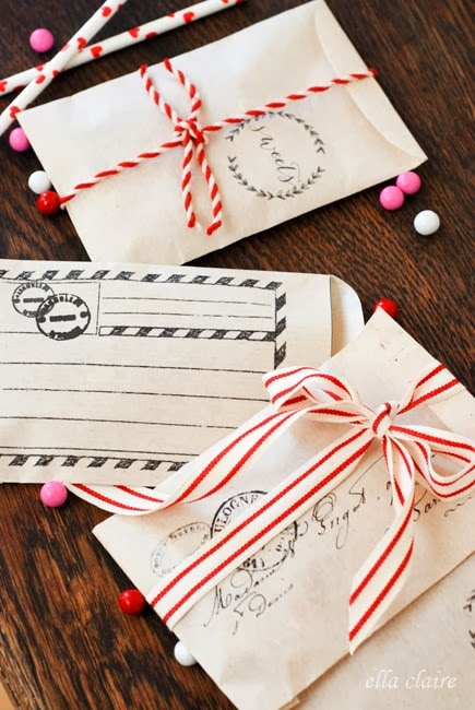 Free Printable Valentine Envelopes Treat Bags Ella Claire