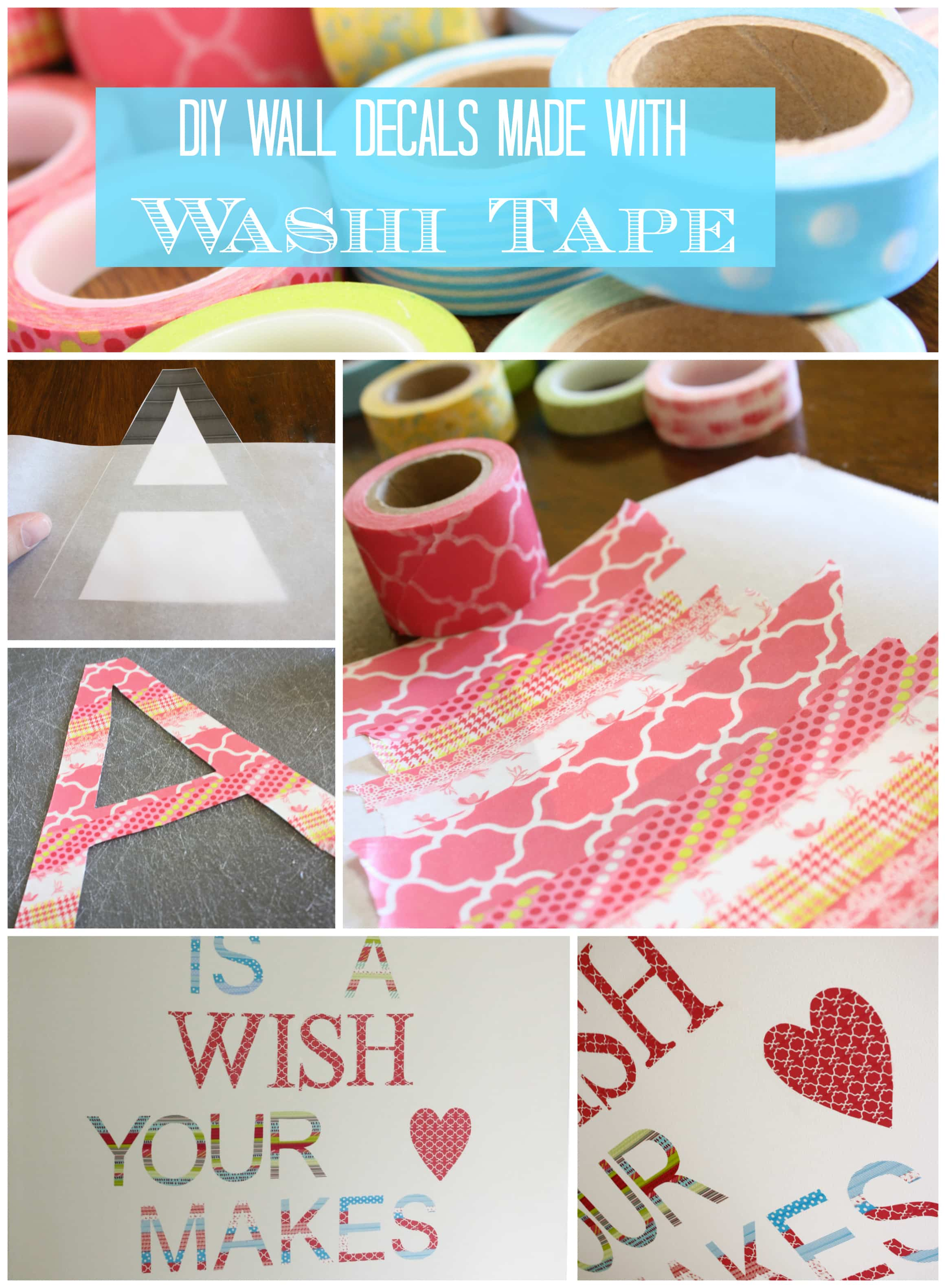 DIY Washi Tape Wall Decals