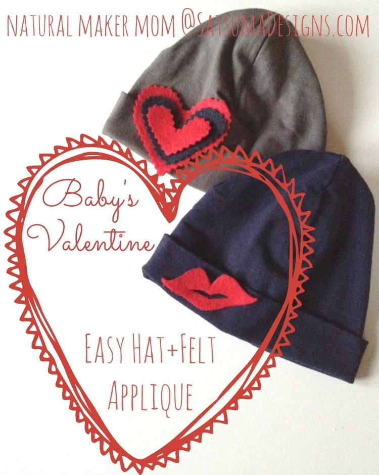 valentine baby hat craft