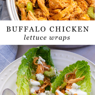 how to make buffalo chicken lettuce wraps