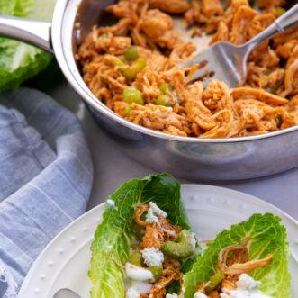 buffalo chicken lettuce wraps recipe