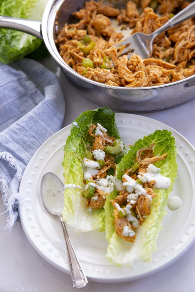 Delicious Buffalo Chicken Lettuce Wraps