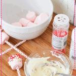 Strawberries and Cream Valentine Marshmallow Pops