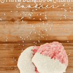 Strawberries and Cream 5 Ingredient Valentine Cookies