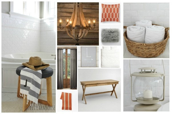 City Farmhouse Linky Party Feature- Master Bath Sneak Peak & Master Bedroom Design Plan