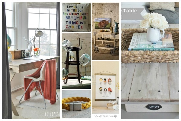 City Farmhouse Linky Party #39 Collage- Look for Less, Friday Favorites, BHG BIg News!!