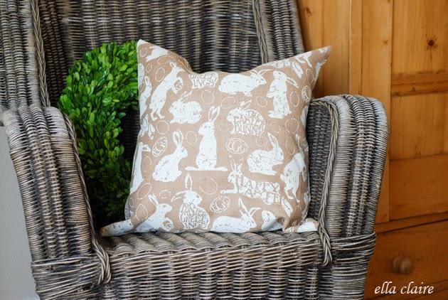 Burlap Bunny Pillows!