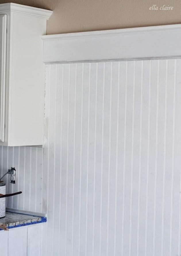 $30 Beadboard Kitchen Backsplash Tutorial - Ella Claire