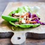 Taco Salad Lettuce Wraps | Avocado Ranch Dressing